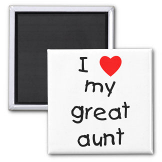 I Love My Great Aunt 2 Inch Square Magnet