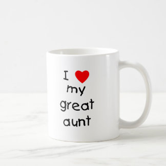 I Love My Great Aunt Coffee Mug