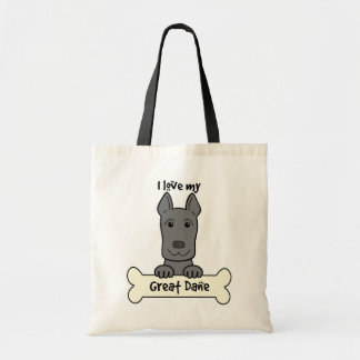 I Love My Great Dane Budget Tote Bag