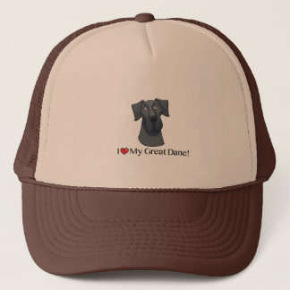 I Love my Great Dane; Blue natural Trucker Hat