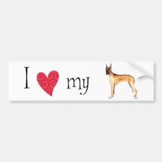 I Love my Great Dane Bumper Stickers