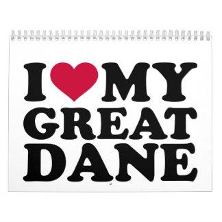 I love my Great Dane Calendar