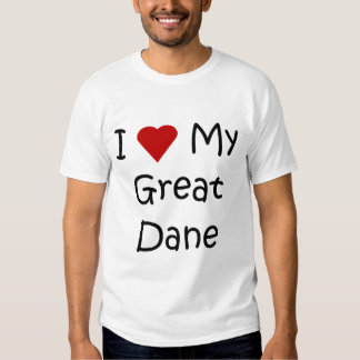 I Love My Great Dane Dog Breed Lover Gifts Shirt
