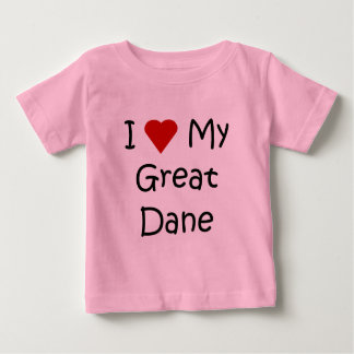 I Love My Great Dane Dog Breed Lover Gifts T Shirt