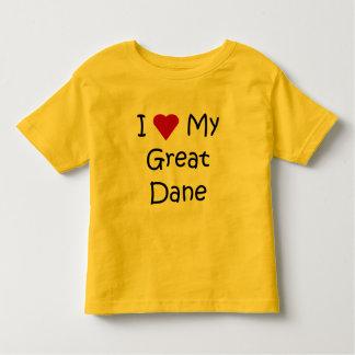 I Love My Great Dane Dog Breed Lover Gifts Tee Shirt