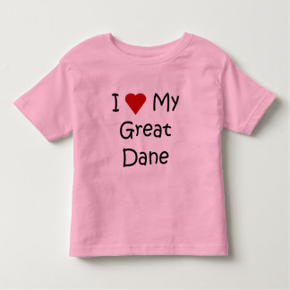 I Love My Great Dane Dog Breed Lover Gifts Toddler T-shirt