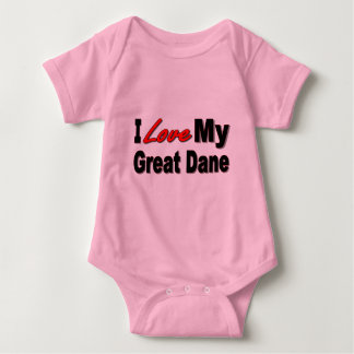 I Love My Great Dane Dog Gifts and Apparel Baby Bodysuit