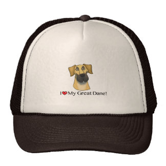 I Love my Great Dane; Fawn natural Trucker Hat