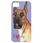 I Love my Great Dane iPhone 5 Cases