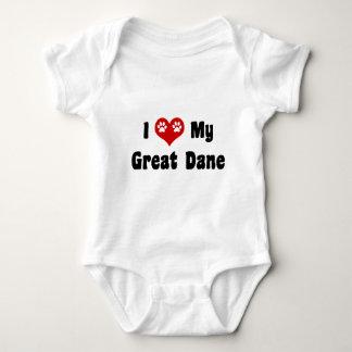 I Love My Great Dane T Shirt
