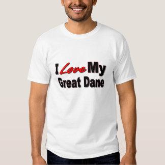 I Love My Great Dane Tee Shirt