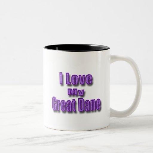 I Love My Great Dane Two-Tone Coffee Mug