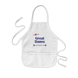 I Love My Great Danes (Multiple Dogs) Kids' Apron