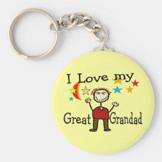 I Love My Great Grandad Keychain