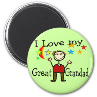 I Love My Great Grandad Magnet