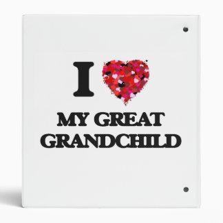 I Love My Great Grandchild Vinyl Binders