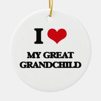 I Love My Great Grandchild Christmas Tree Ornament