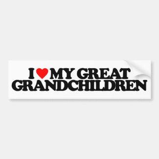 I LOVE MY GREAT GRANDCHILDREN BUMPER STICKER