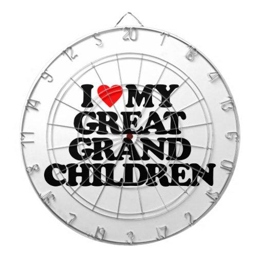 I LOVE MY GREAT GRANDCHILDREN DARTBOARD
