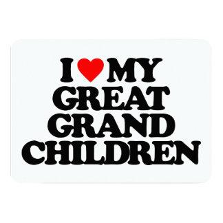 I LOVE MY GREAT GRANDCHILDREN 5X7 PAPER INVITATION CARD