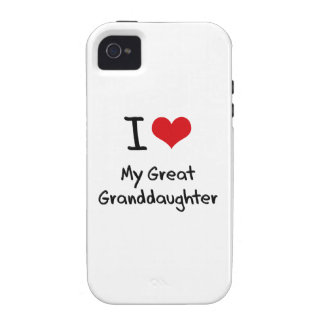 I Love My Great Granddaughter iPhone 4/4S Cases