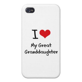 I Love My Great Granddaughter iPhone 4 Cases