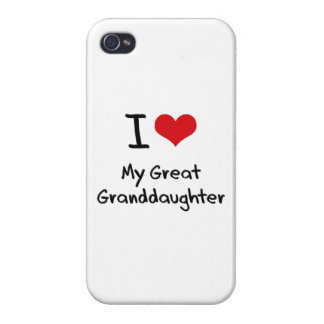 I Love My Great Granddaughter iPhone 4 Cover