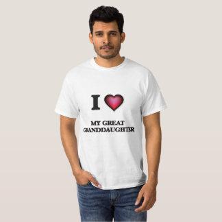 I Love My Great Granddaughter T-Shirt