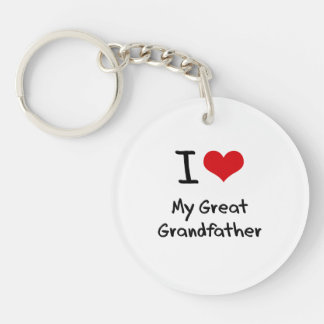 I Love My Great Grandfather Double-Sided Round Acrylic Keychain