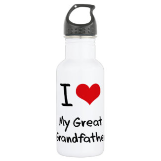 I Love My Great Grandfather 18oz Water Bottle
