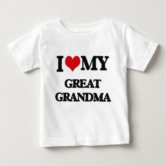 I Love My Great Grandma Baby T Shirt Zazzle Com