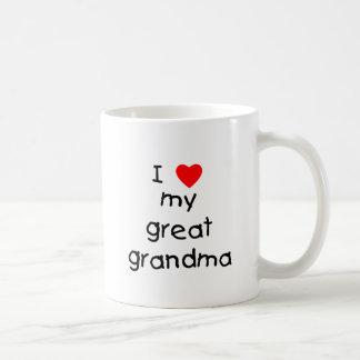 I love my great grandma classic white coffee mug