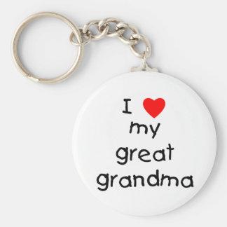I love my great grandma keychain