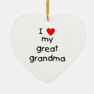I love my great grandma christmas ornaments