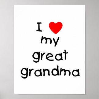 I love my great grandma poster