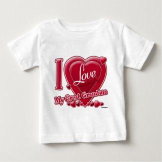 I Love My Great Grandma red - heart Baby T-Shirt