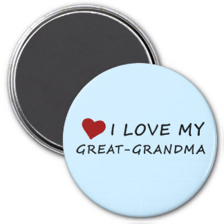 I Love My Great-Grandma with Heart Magnet