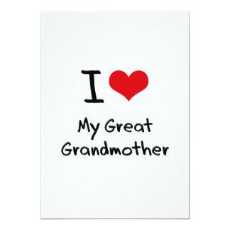 I Love My Great Grandmother Custom Invitation