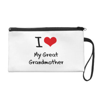 I Love My Great Grandmother Wristlet