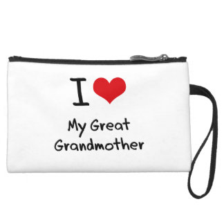 I Love My Great Grandmother Wristlet Purse