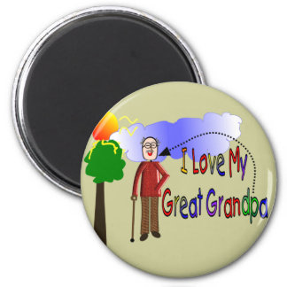 I love my great Grandpa KIDS DRAWING Magnet