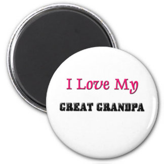 I Love My Great Grandpa Magnet