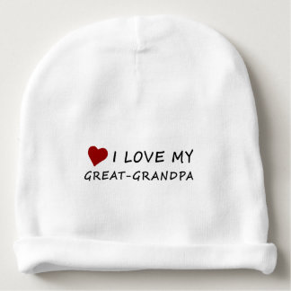 I Love My Great-Grandpa with Heart Baby Beanie