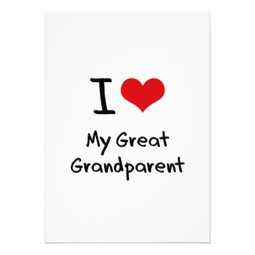 I Love My Great Grandparent Personalized Announcement