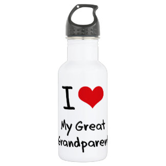 I Love My Great Grandparent 18oz Water Bottle