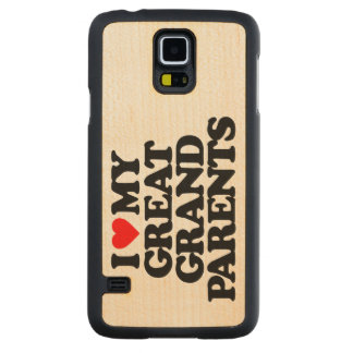 I LOVE MY GREAT GRANDPARENTS CARVED® MAPLE GALAXY S5 SLIM CASE