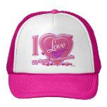 I Love My Great Grandparents pink/purple - heart Mesh Hats