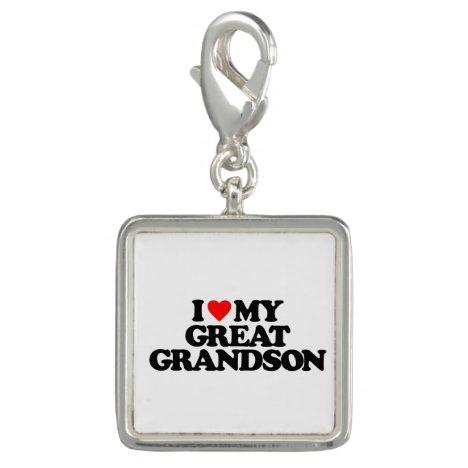 I LOVE MY GREAT GRANDSON CHARM