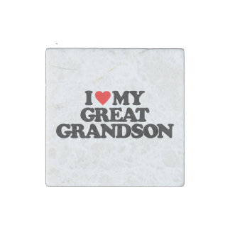 I LOVE MY GREAT GRANDSON STONE MAGNET