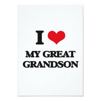 I Love My Great Grandson Card